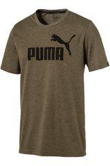 Puma Kaki de Hombre modelo ESS NO.1 HEATHER TEE Deportivo Polos