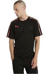 Puma Negro / Naranja de Hombre modelo EVOTRG TECH TEE Polos Deportivo Camisetas