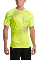 Puma Amarillo / Gris de Hombre modelo EVOTRG GRAPHIC TEE Polos Deportivo Camisetas