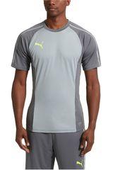 Puma Gris / Plomo de Hombre modelo EVOTRG TRAINING TEE Polos Deportivo Camisetas