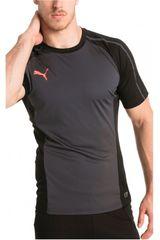 Puma Plomo / Negro de Hombre modelo EVOTRG TRAINING TEE Polos Deportivo Camisetas