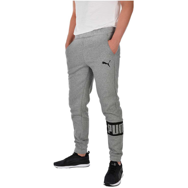 Pantalón de Hombre Puma Gris / Negro rebel sweat pants fl cl