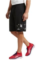 Puma Negro / Blanco de Hombre modelo MOTION FLEX 10 GRPHC SHORT Shorts Deportivo
