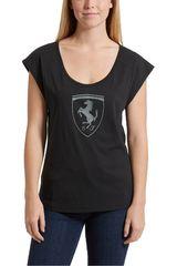 Puma Negro / Plateado de Mujer modelo FERRARI BIG SHIELD TEE Polos Deportivo