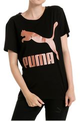 Puma Negro / Rosado de Mujer modelo ARCHIVE LOGO TEE Polos Deportivo
