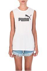 Puma Blanco / Negro de Mujer modelo CUT OFF BOYFRIEND TANK Bividis Deportivo
