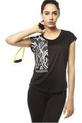 Reebok Negro /Gris de Mujer modelo WOR GR PES LAT Polos Deportivo