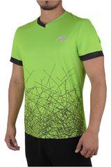 Lotto Verde / Negro de Hombre modelo R7217 Camisetas Polos Deportivo