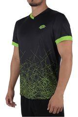 Lotto Negro / Verde de Hombre modelo R7218 Deportivo Polos Camisetas