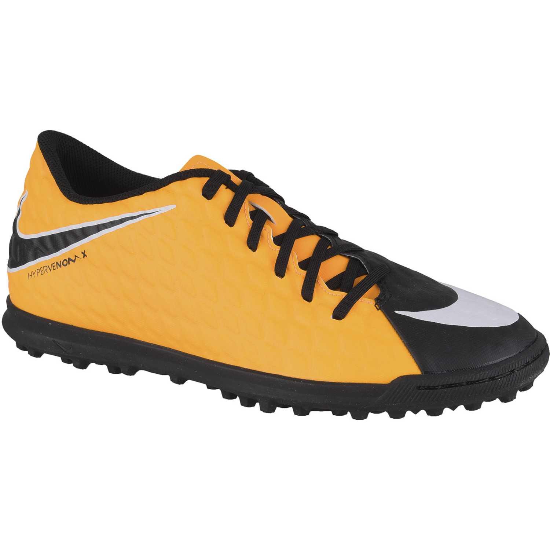 Zapatilla de Hombre Nike Naranja / Negro hypervenomx phade iii tf
