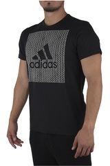 adidas Negro /Gris de Hombre modelo BOS KNITTED Deportivo Polos