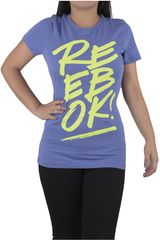 Reebok Azulino / Verde de Mujer modelo SPLIT REEBOK OPP- CREW Deportivo Polos