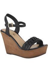 Limoni - Cuero Negro de Mujer modelo SPW 2118102 Cuña Plataformas Sandalias