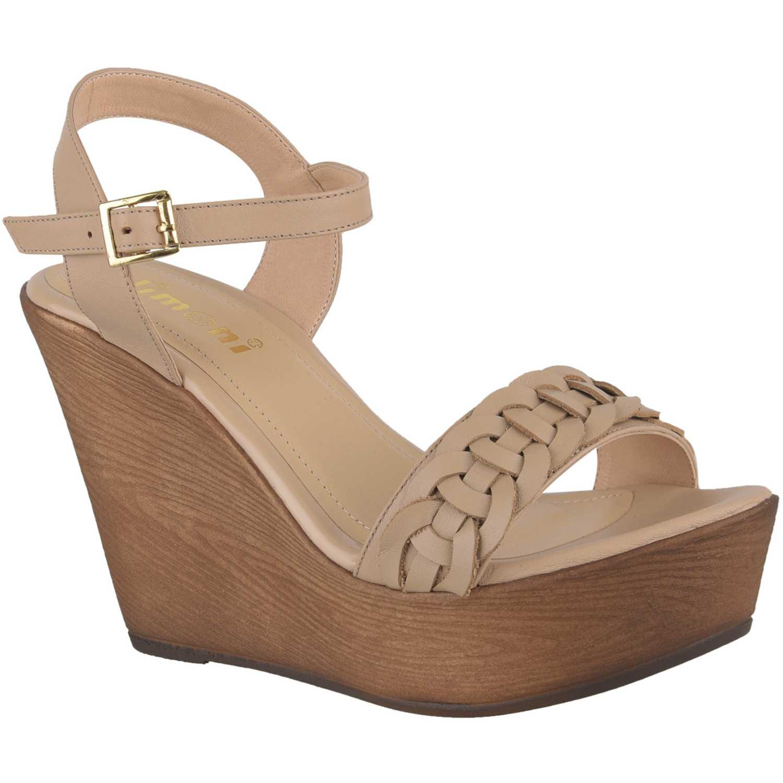 Sandalia Cuña de Mujer Limoni - Cuero Piel spw 2118102
