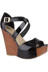 Limoni - Cuero Negro de Mujer modelo SPW 2418102 Cuña Plataformas Sandalias