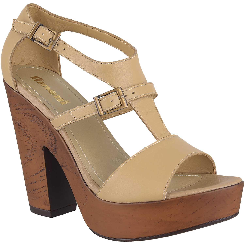 Sandalia Plataforma de Mujer Limoni - Cuero Beige sp 2418102