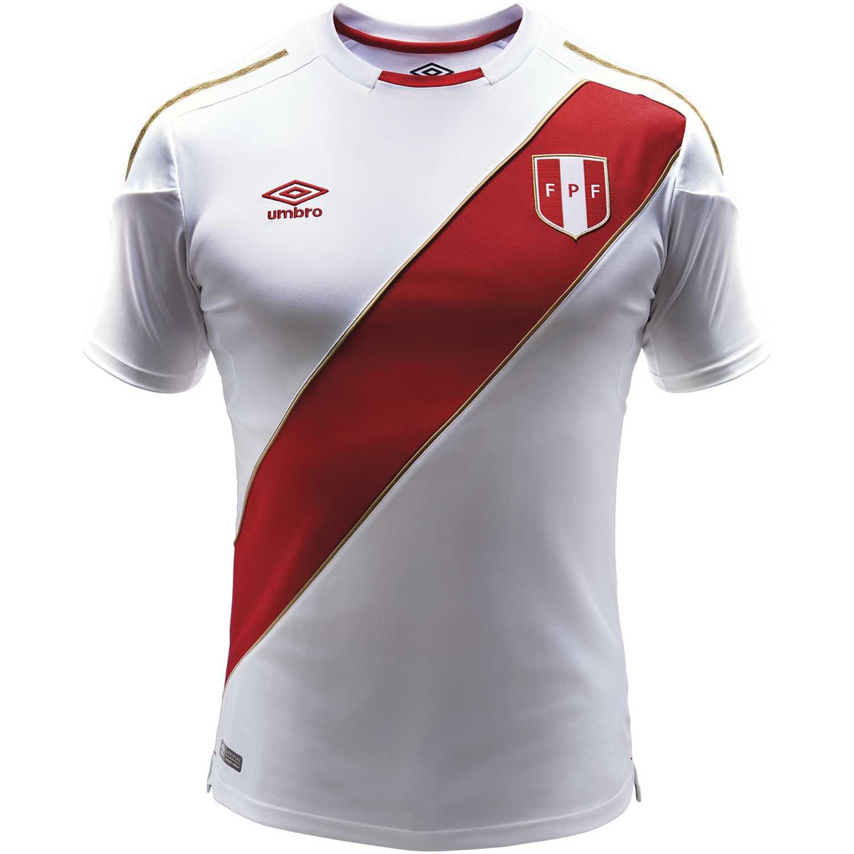 Camiseta de Hombre Umbro Blanco / rojo peru home jersey s/s 2018 (camiseta mundialista)