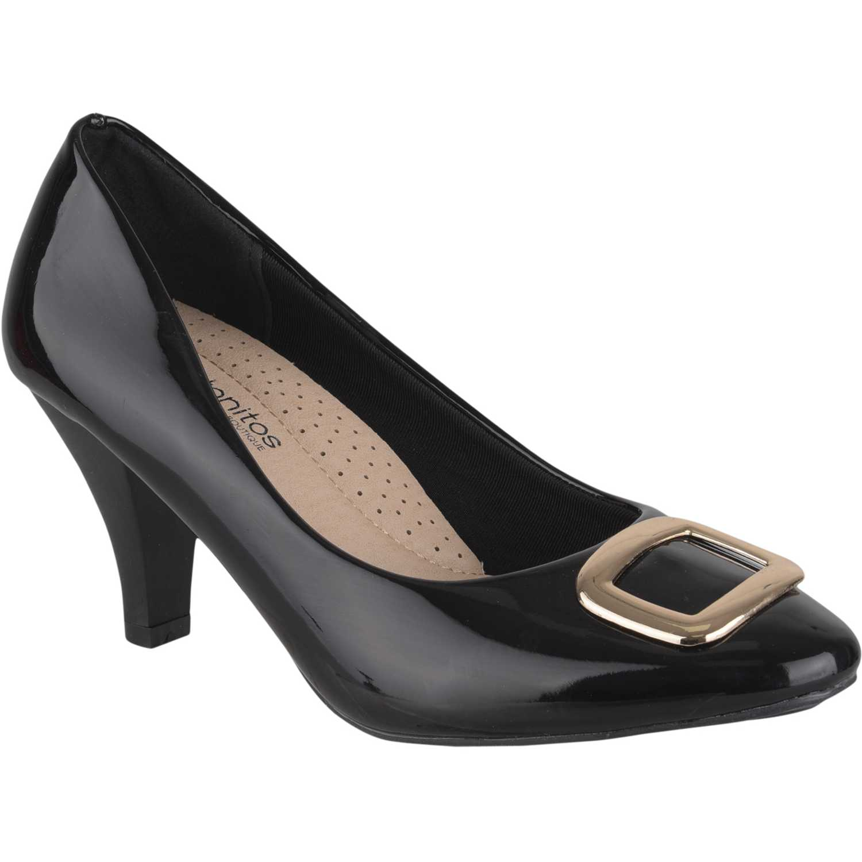 Calzado de Mujer Platanitos Negro c-7449