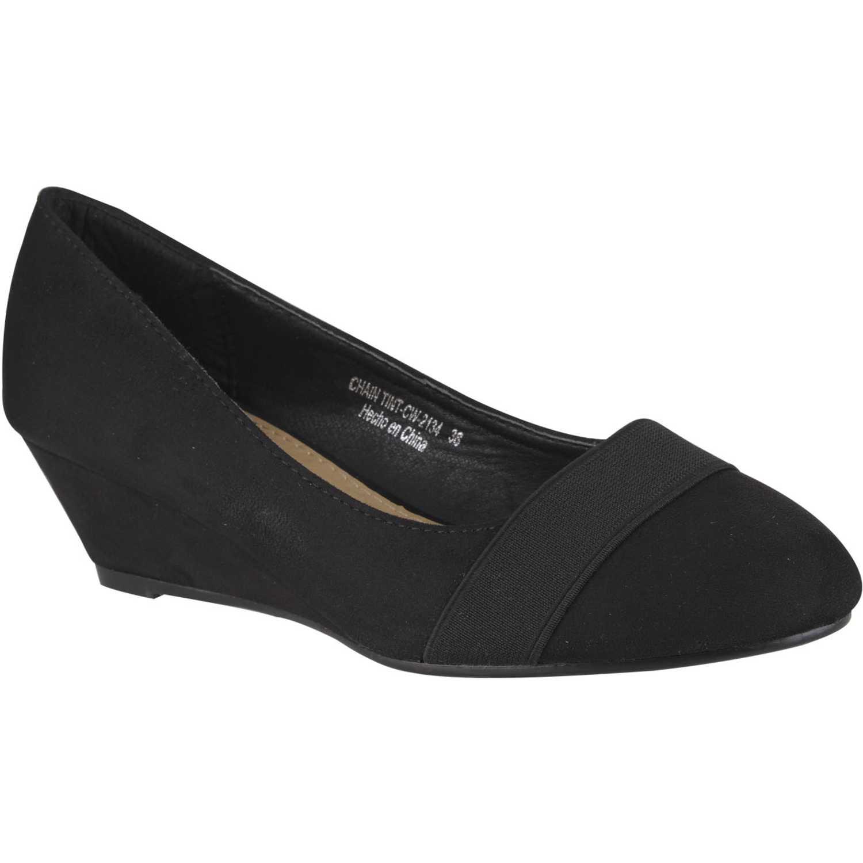Calzado de Mujer Platanitos Negro cw-2134