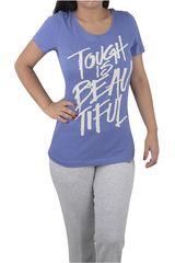 Reebok Azul / Blanco de Mujer modelo TOUGH IS BEAUTIFUL Deportivo Polos