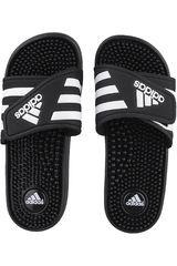 Sandalia de Mujer Adidas Negro / Blanco ADISSAGE