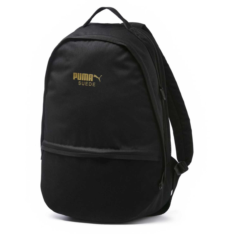 Mochila de Hombre Puma Negro / dorado suede backpack