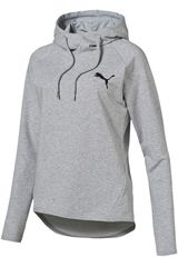 Puma Gris de Mujer modelo ACTIVE ESS HOODED COVER UP W Poleras Deportivo