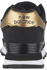 new balance doradas y negras