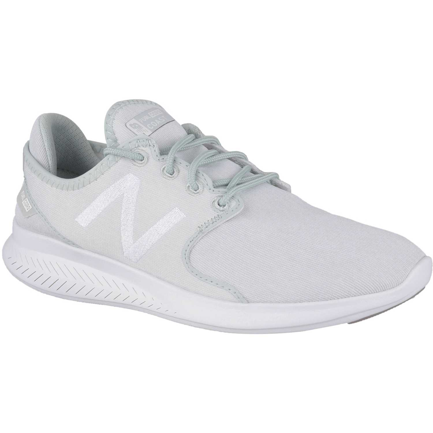new balance gris y blanco mujer