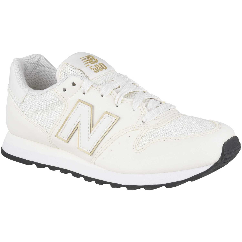 zapatillas new balance mujer blancas y doradas