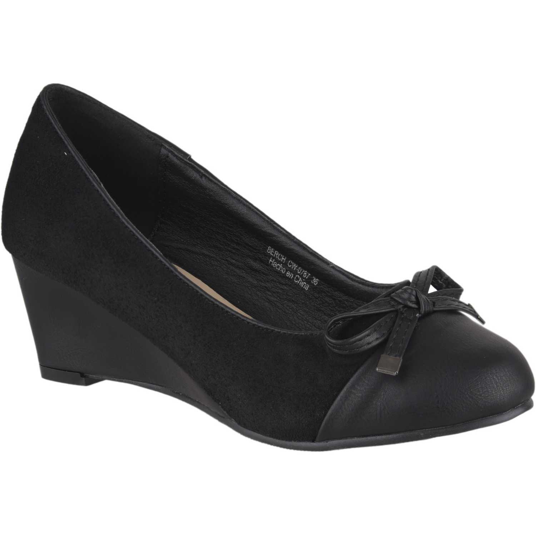 Calzado de Mujer Platanitos Negro cw-0767
