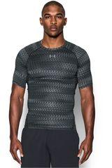 Under Armour Plomo / Gris de Hombre modelo UA HG ARMOUR PRINTED SS Fit Polos Camisetas Deportivo