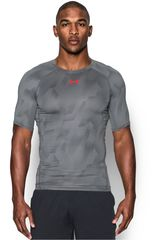 Under Armour Gris / Rojo de Hombre modelo UA HG ARMOUR PRINTED SS Polos Fit Camisetas Deportivo