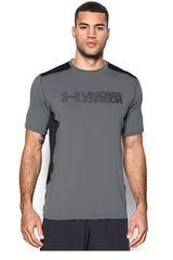 Under Armour Plomo / Negro de Hombre modelo UA RAID GRAPHIC SS Camisetas Deportivo Fit Polos