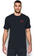Under Armour Negro /Gris de Hombre modelo SC30 BLESSED WITH GAME TEE Deportivo Polos