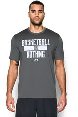 Under Armour Gris / Blanco de Hombre modelo UA BASKETBALL OR NOTHING TEE Deportivo Polos