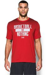Under Armour Rojo / Blanco de Hombre modelo UA BASKETBALL OR NOTHING TEE Deportivo Polos
