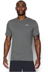 Polo de Hombre Under Armour Gris / blanco streaker short sleeve