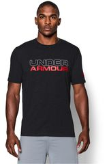 Under Armour Plomo / Rojo de Hombre modelo UA COTTON WORDMARK STACK Deportivo Polos