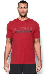 Under Armour Rojo / Negro de Hombre modelo UA COTTON WORDMARK STACK Deportivo Polos