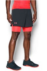 Under Armour Negro / Rojo de Hombre modelo UA QUALIFIER 2-IN-1 SHORT Deportivo Shorts