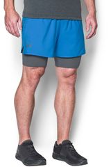 Under Armour Celeste / Gris de Hombre modelo UA QUALIFIER 2-IN-1 SHORT Deportivo Shorts