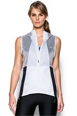 Under Armour Blanco / Negro de Mujer modelo RUN TRUE VEST Casual Chalecos
