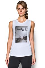 Under Armour Blanco / Negro de Mujer modelo GRAPHIC TANK ROAD WARRIOR Deportivo Bividis