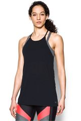 Under Armour Negro de Mujer modelo THREADBORNE FASHION TANK Deportivo Bividis