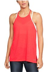 Under Armour Coral de Mujer modelo THREADBORNE FASHION TANK Deportivo Bividis