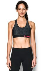 Under Armour Negro / Rosado de Mujer modelo ARMOUR MID BRA PRINTED Deportivo Tops