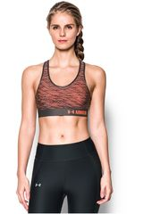 Under Armour Naranja / Plomo de Mujer modelo ARMOUR MID BRA PRINTED Deportivo Tops