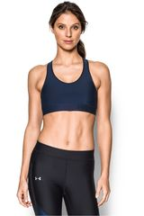 Under Armour Acero / Negro de Mujer modelo ARMOUR MID SOLID Deportivo Tops