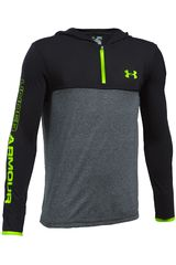 Under Armour Plomo / Verde de Niño modelo THREADBORNE 1/4 ZIP HOOD Deportivo Poleras
